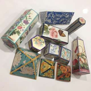 Folded Assorted Gift Boxes