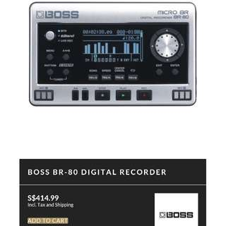 BOSS MICRO BR-80 ROLAND PRODUCT (PRICE REDUCED)