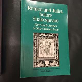 Romeo And Juliet Before Shakespeare