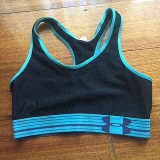Under Armour Blue And Black Sports Bra Size 12