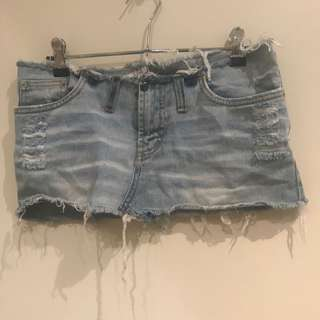 Distressed Mini Skirt
