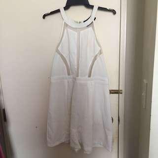LIPPY White Playsuit Size 12