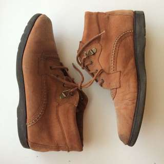 Clarks 'Cute Brown Boots with Stitch Detail'