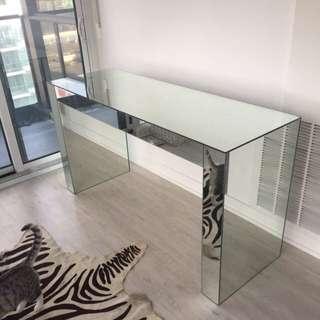Mirrored Table Vanity Desk Glass