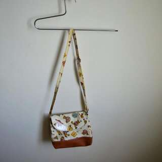 BROWN TEDDY SLING BAG