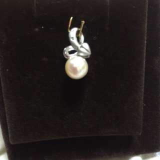 粉珍珠鑽墜