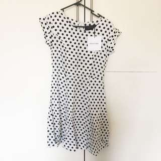 Black by Geng Spot Tea Dress - tags attached