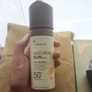 The Faceshop Natural Sun Eco Ice Air Puff