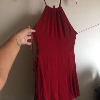 MISGUIDED Lace-up Dress Size 10