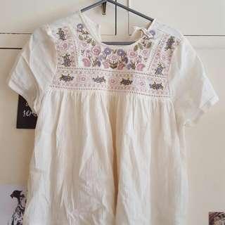 HnM Shirt/HnM Floral Top/ Floral Pattern Top/ Atasan Bunga Bunga