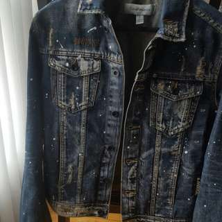 Calvin Klein Distressed Denim Jacket