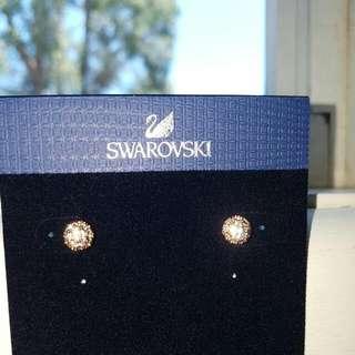 Swarovski Emma Earring Studs In Rose Gold #5225982