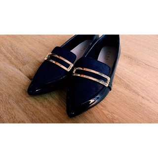 Zara Flats Patent Oxford Pointed