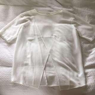 White Sheer Top