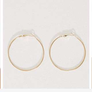 BNWT Gold Hoop Earrings