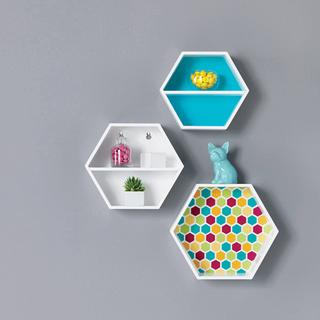 3 pc hexagon Wall Shelves