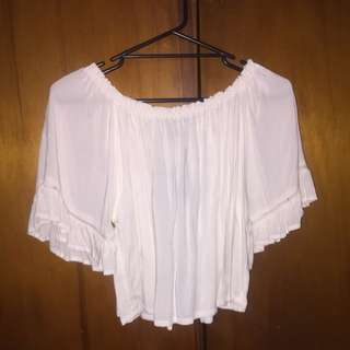 Glassons White Off Shoulder Top Blouse