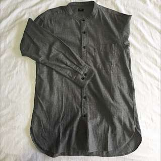 Uniqlo Cotton Mandarin Collar Shirt