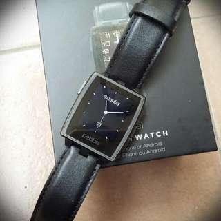 Pebble Steel Smartwatch (1 Set With Box)