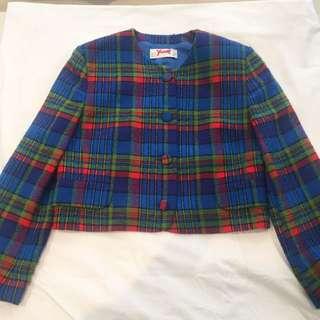 ⚡Vintage 80's Tartan Clueless Style Jacket ⚡