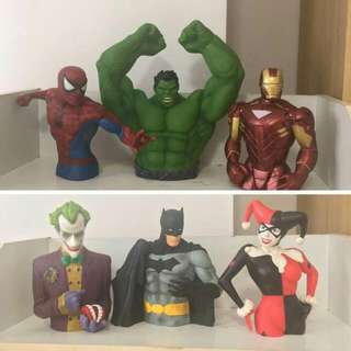 Marvel and Justice League Coin Banks