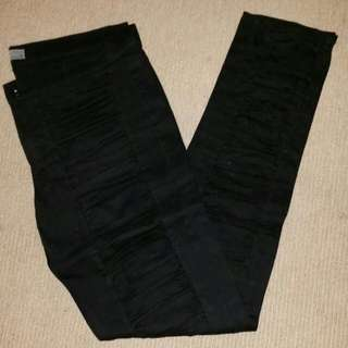 Mossimo Front Rouched Slim Fit Black Pant Size 12