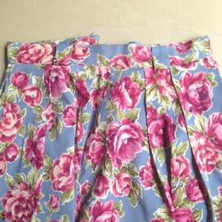 flower skirt / rok bunga
