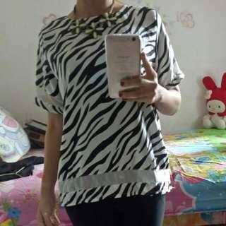 Atasan Motif Zebra