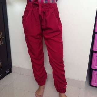 Red Joger Pants