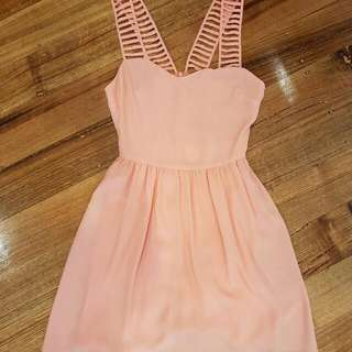 Bettina Liano Cocktail Party Dress Coral Colour Size 6 & 8 Brand New