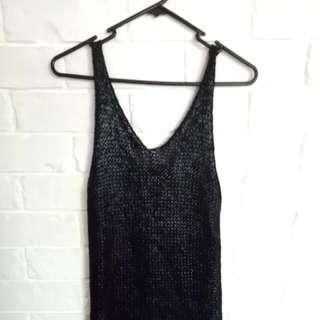 Black Knitted Festival Dress