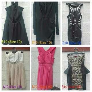 Woman's Dresses (Size 10)