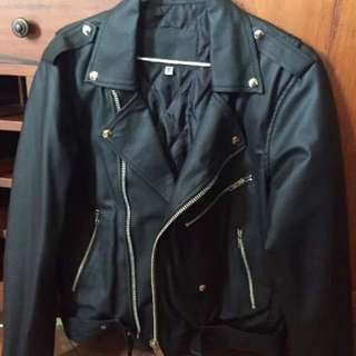Brand New Faux Fake Black Leather Jacket