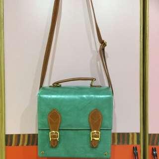 Tiffany綠 磁鐵釦 復古方包