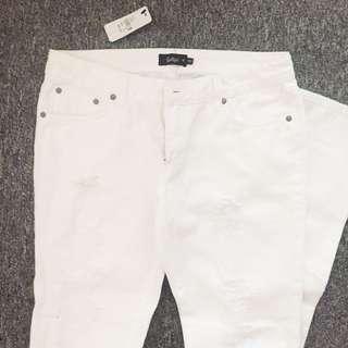 Sportsgirl White Ripped Jeans