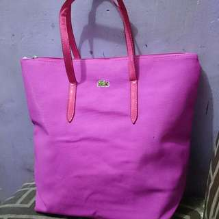 class A Lacoste Pink hand Bag