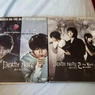 Death Note Movie 1 & 2 DVDs