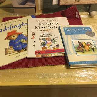 British based Children's Books- Paddington, Mister Magnolia & Winne the Pooh