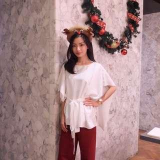 Top Atsthelabel White Red
