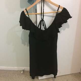 Ruby Black Shoulder Dress