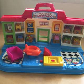 RARE Fisher Price Little People Foldable Supermarket