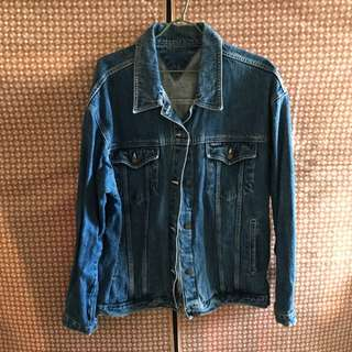 古著-厚磅/重磅牛仔外套(原色藍)