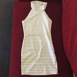 Stripe Halter Neck Dress