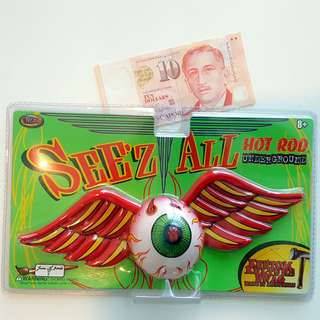 Flying Eyeball Wall Decor (RED WINGS - GREEN EYEBALL)