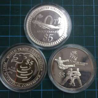 SG $5 Silver Proof 3pc Coin