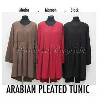 #FreePostage Plussize Arabian Pleated Tunic