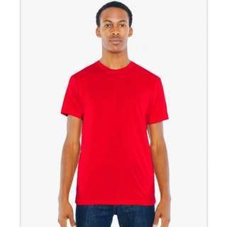 BN American Apparel Poly-Cotton 50/50 T-Shirt (Small, Red)