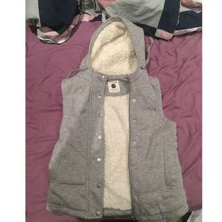 Cotton on wooly grey vest.