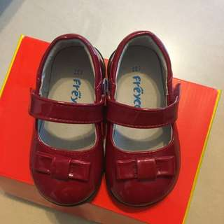 Baby Girl Leather Shoes, Red Color