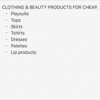 CLOTHES FOR CHEAP
